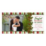 Premier de Noël carte photo de vacances ensemble Cartes De Vœux Avec Photo