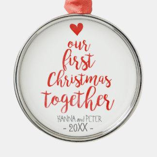 Premier de Noël ornement élégant ensemble