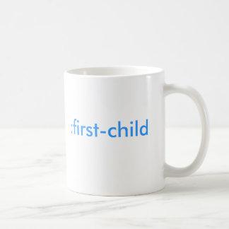 : premier-enfant (c'est un garçon !) mug blanc