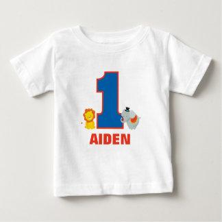 Premier équipement d'anniversaire de cirque, t-shirt pour bébé