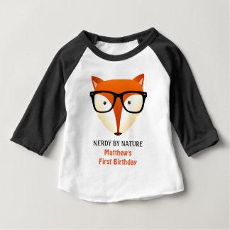 Premier Fox de ballot d'anniversaire de bébé T-shirt Pour Bébé