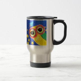 Premier hibou dans l'espace mug de voyage