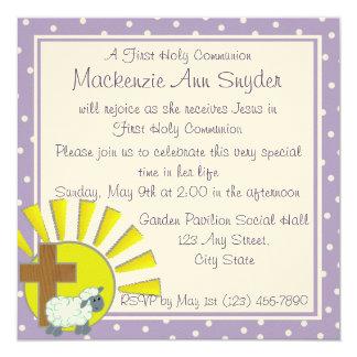 Premier invitation de baptême de communion carton d'invitation  13,33 cm