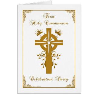 Premier invitation de sainte communion - floral