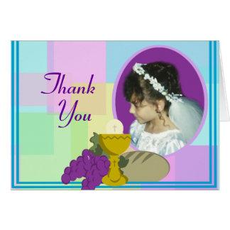 Premier Merci de communion Cartes De Vœux
