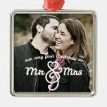 Premier Noël comme M. et Mme Keepsake Ornament Décoration De Noël