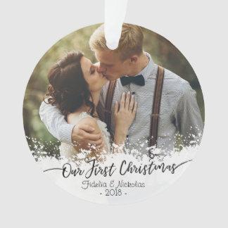 Premier Noël comme M. et Mme Photo Ornament