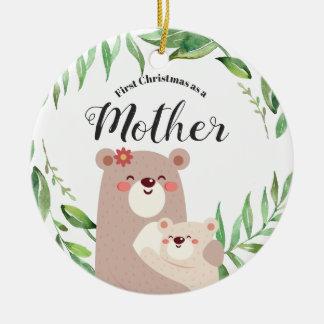 Premier Noël comme ornement de mère