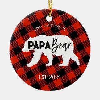 Premier Noël comme ornement d'ours de papa
