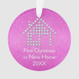 Premier Noël dans la nouvelle maison - rose