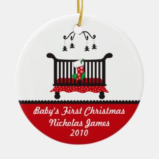 Premier Noël de bébé - bas de huche et de Noël Décoration De Noël