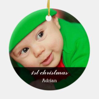 Premier Noël de belle photo de bébé Décorations De Noël