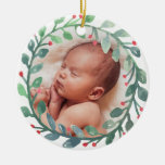 Premier Noël de l'ornement | de Noël du bébé Ornement Rond En Céramique