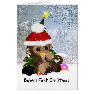 Premier Noël du bébé - ?ère carte de Noël du bébé