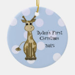 Premier Noël du bébé mignon de girafe Décoration Pour Sapin De Noël