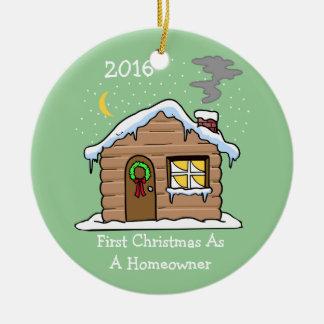 Premier Noël en tant que propriétaire d'une maison Ornement Rond En Céramique
