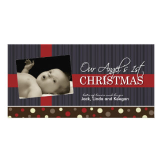 Premier Noël Photocard du bébé Cartes Avec Photo