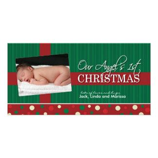 Premier Noël Photocard du bébé Photocartes