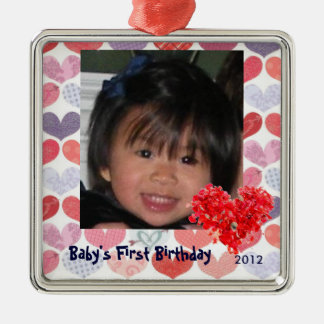 Premier ornement de la photo du bébé avec des