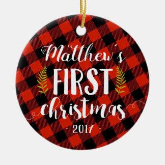 Premier ornement de Noël de bébé
