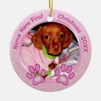 Premier ornement de Noël de chiens personnalisé