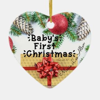 Premier ornement de Noël du bébé fait sur commande