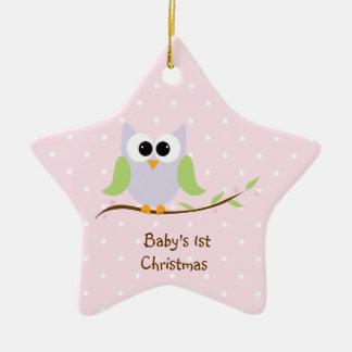 Premier ornement de Noël du bébé mignon de hibou