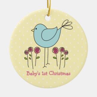 Premier ornement de Noël du bébé mignon d'oiseau
