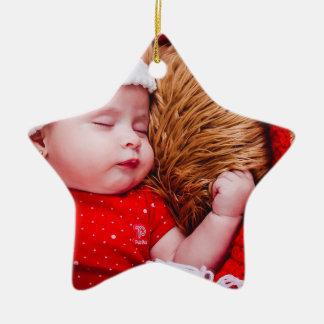 Premier ornement d'étoile de Noël du bébé