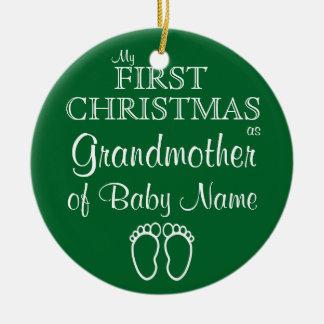 Premier ornement personnalisé de Noël de