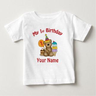Premier ours de l'anniversaire du bébé t-shirt pour bébé