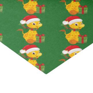 Premier papier de soie de soie de Noël du bébé