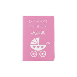 Premier support rose de la couverture | du protège-passeports
