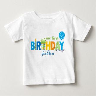 Premier T-shirt d'anniversaire personnalisé