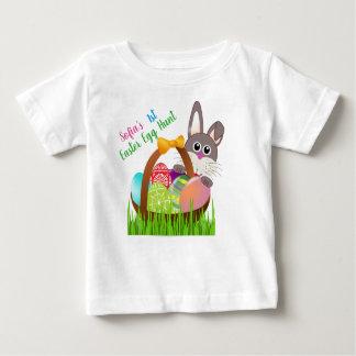 Premier T-shirt de chasse à oeuf de pâques du bébé