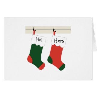 Première carte de Noël de nouveaux mariés de Noël
