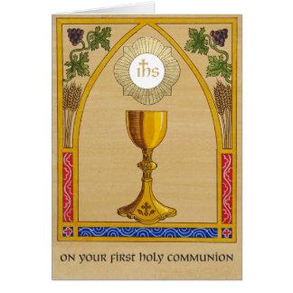 Première carte de sainte communion