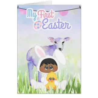 Première carte de voeux de Pâques du bébé