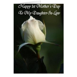 Première carte de voeux heureuse du jour de mère