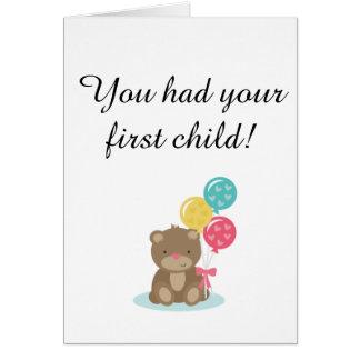 Première carte d'enfant pour le childfree