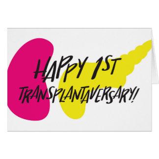 Première carte heureuse de SPK Transplantaversary