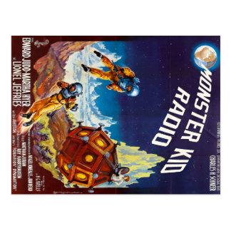 Première carte postale de monstre de lune de radio