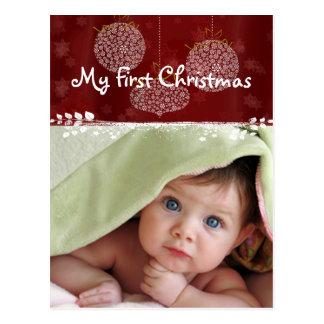 Première carte postale de photo de Noël de 3