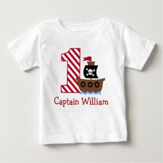 Première chemise d'anniversaire de pirate t-shirt pour bébé