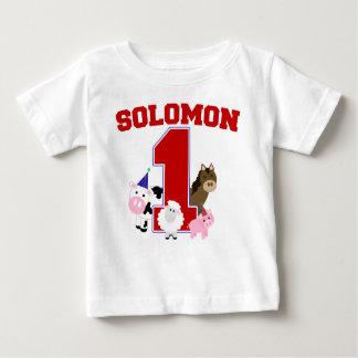 Première chemise du B-jour de Solomon T-shirt Pour Bébé