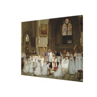 Première communion 1867 impression sur toile