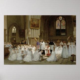 Première communion, 1867 poster