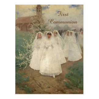 Première communion carte postale