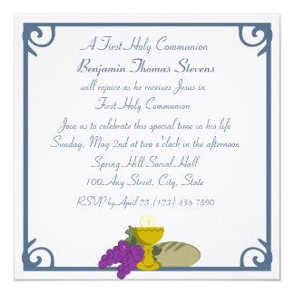 Première communion carton d'invitation  13,33 cm
