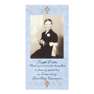 Première communion de carte de remerciements photocartes personnalisées